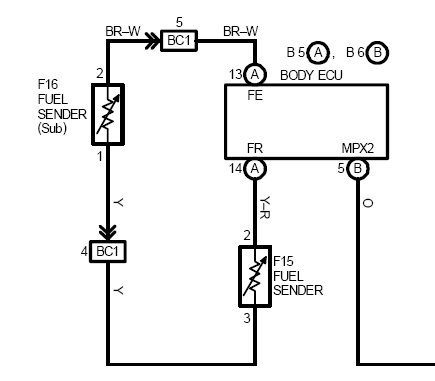 help a custom car project here is a wiring diagram for the 2001 lexus is300 fuel senders assuming that it is wired the same as your car it appears that the fuel senders are wired in